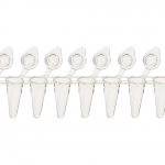0.1 mL Low Profile 8 Strip Tubes with Attached Caps, Clear